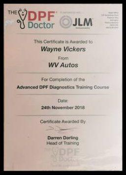 DPF Certificate